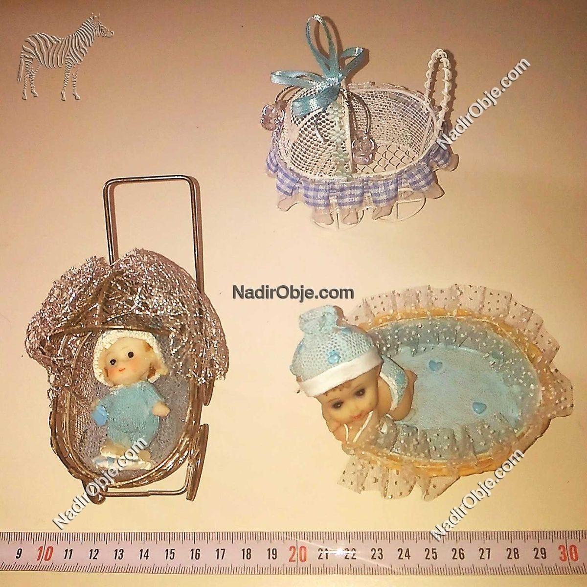 3 Adet Bebek Arabası Deri-Kumaş-Tekstil Araba