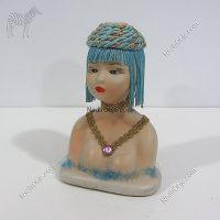 Mısırlı Kadın Deri-Kumaş-Tekstil Figür