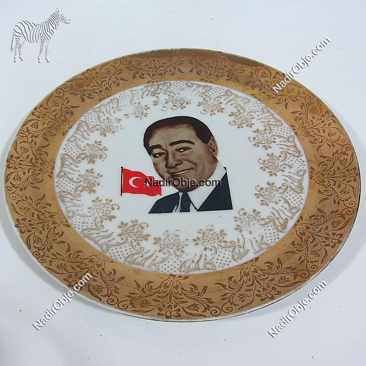Adnan Menderes Tabak Seramik-Porselen Objeler Adnan Menderes