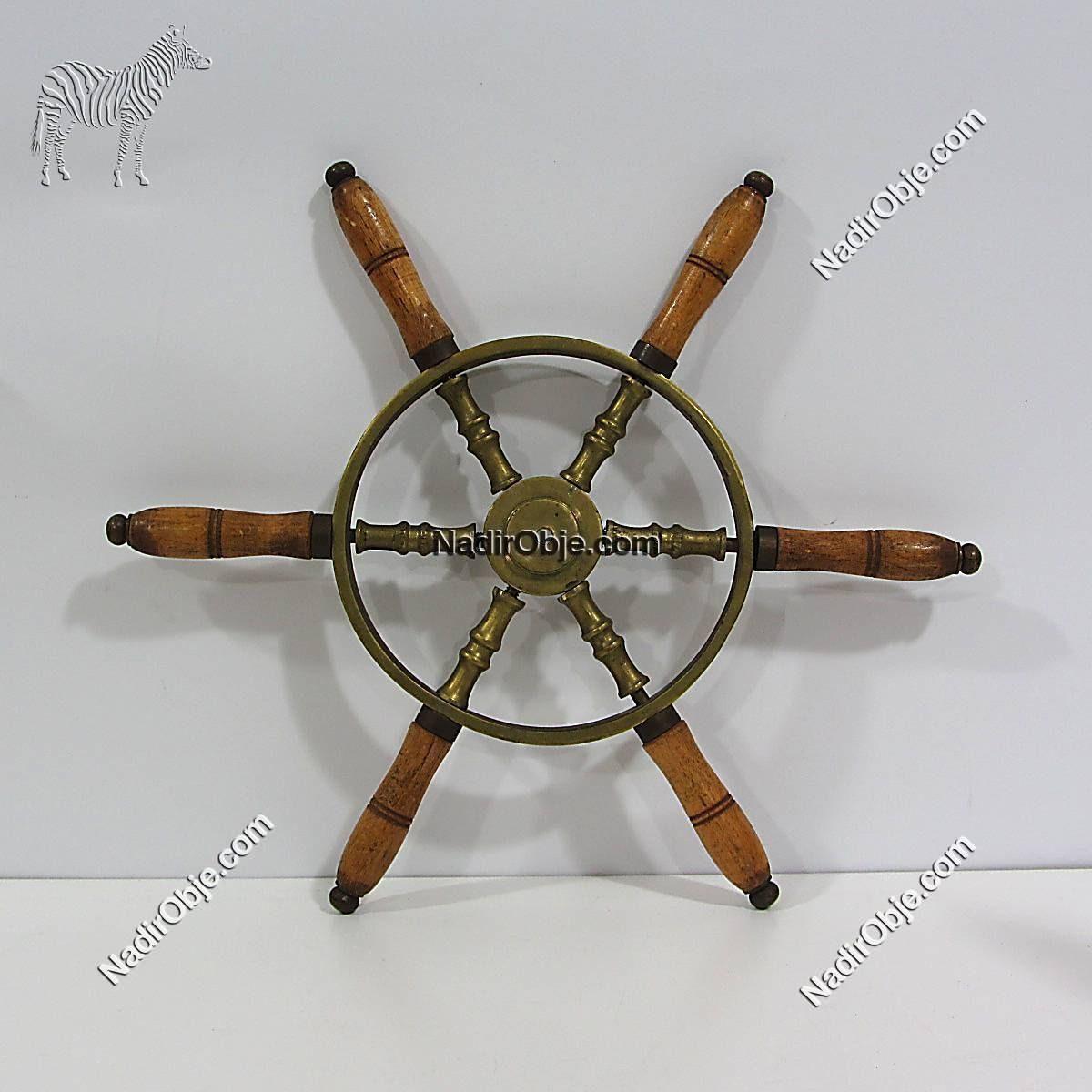 Gemi Dümeni Ahşap Objeler Denizcilik