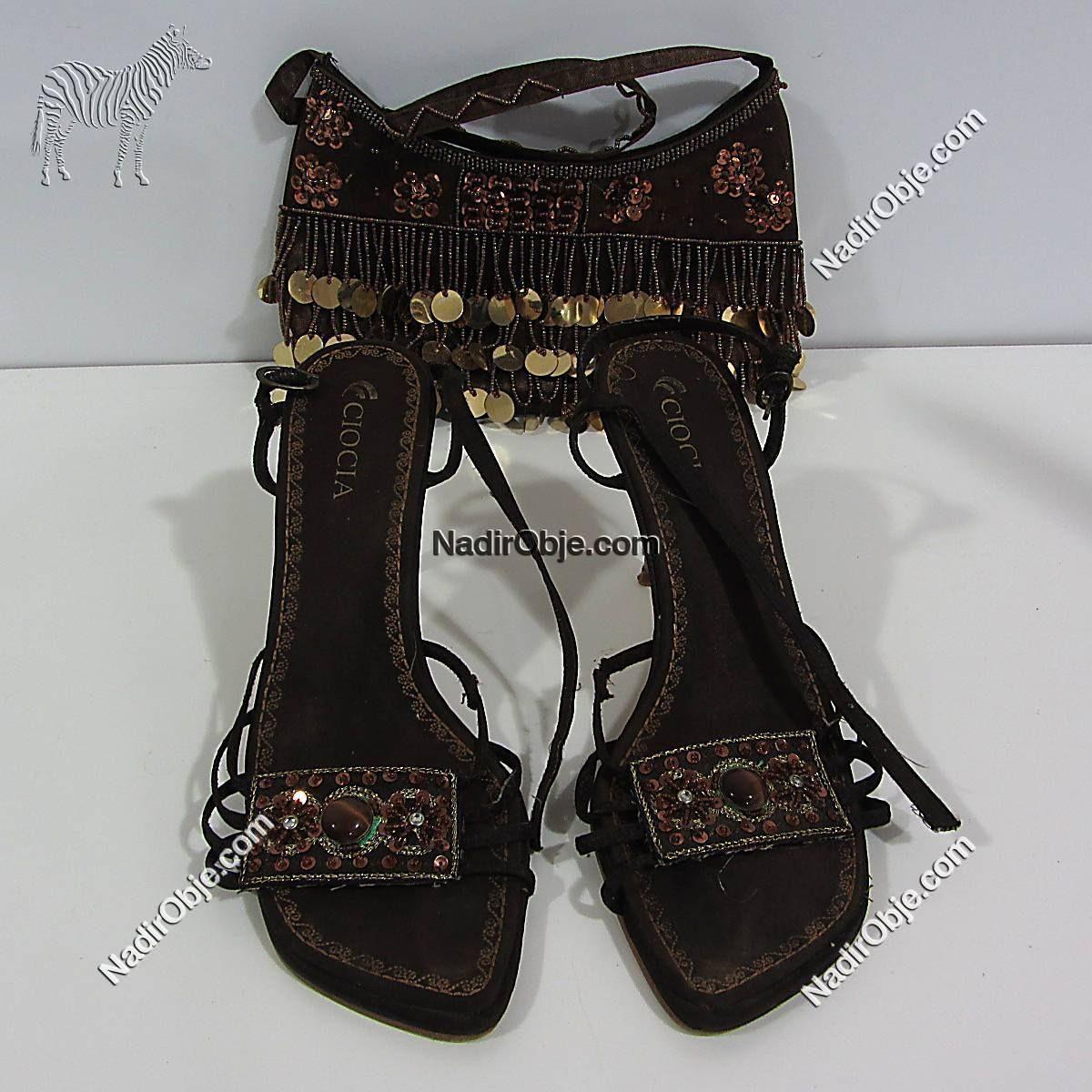 Ciocia terlik ve çanta Deri-Kumaş-Tekstil Çanta