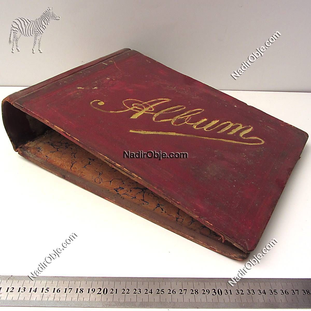 Eski Kitap Kabı Ahşap Objeler Kap