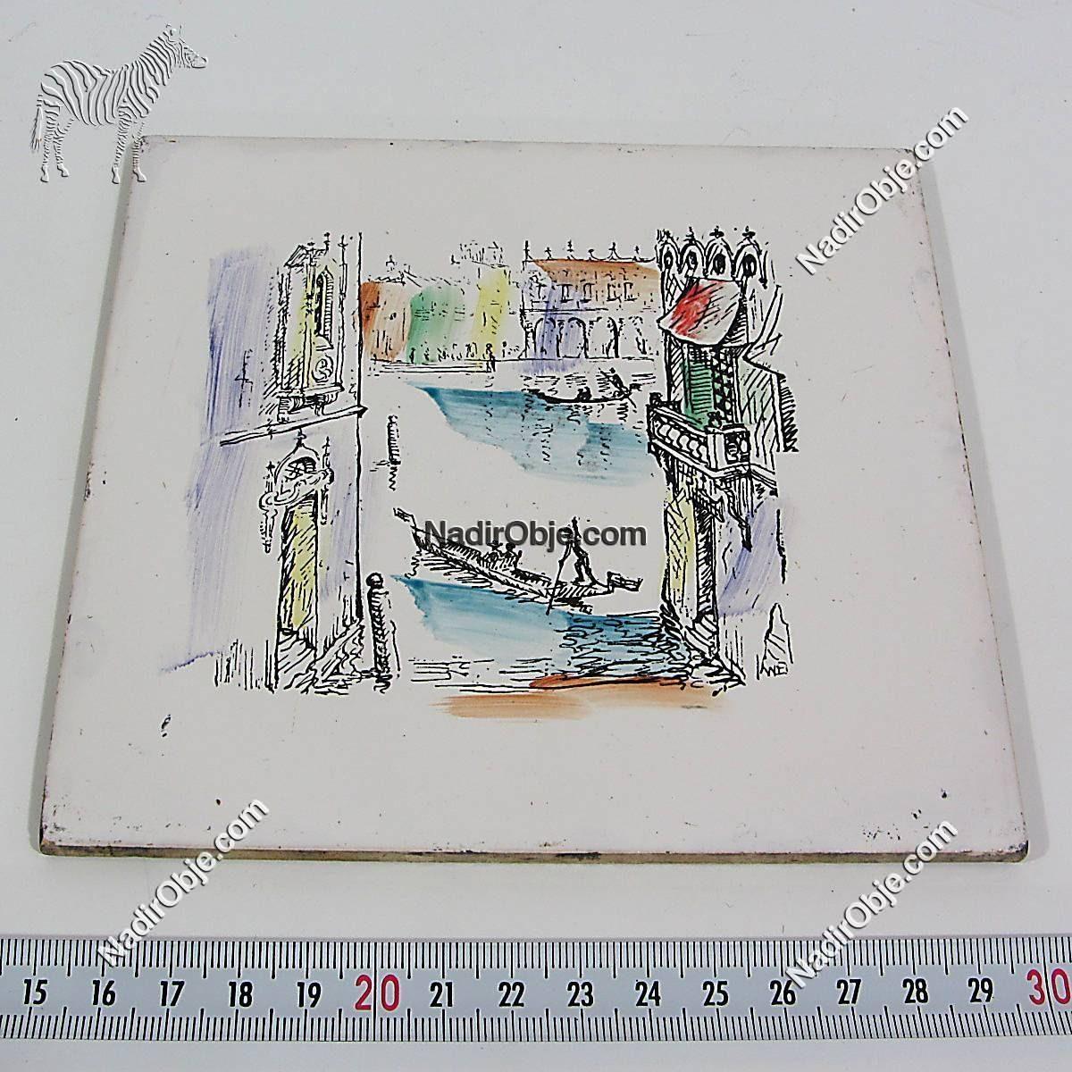 Seramik Fayans Levha Seramik-Porselen Objeler Fayans