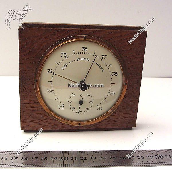 Analog Termometre Ahşap Objeler Alet
