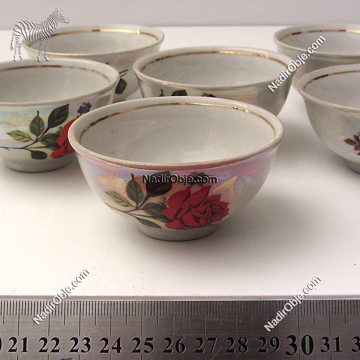 Porselen Fincanlar Seramik-Porselen Objeler Fincan