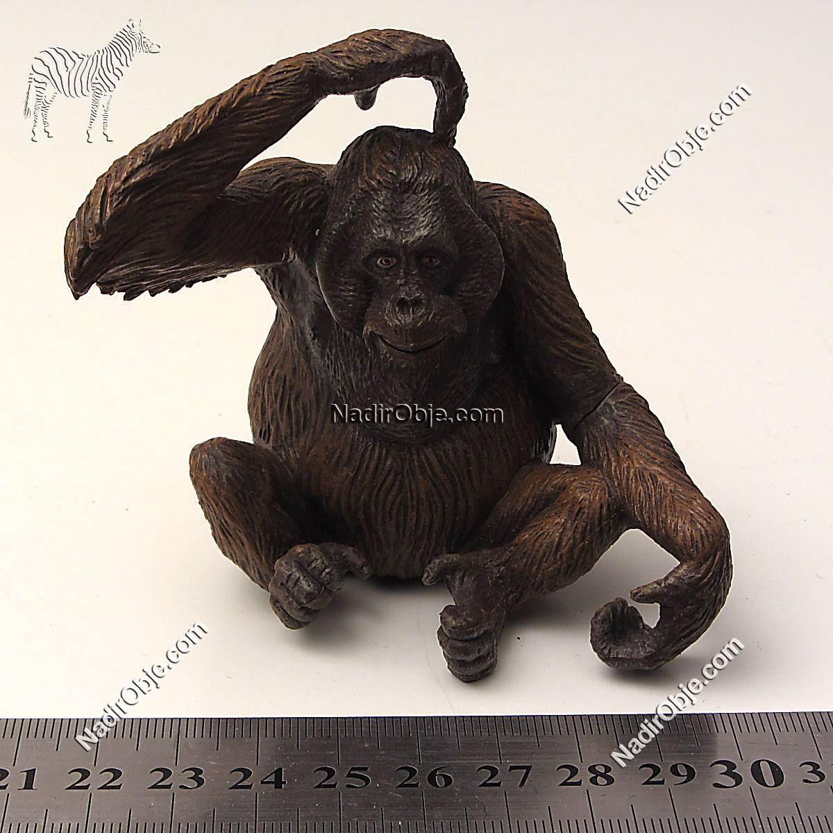 Orangutan Plastik-Polyester Objeler Figür