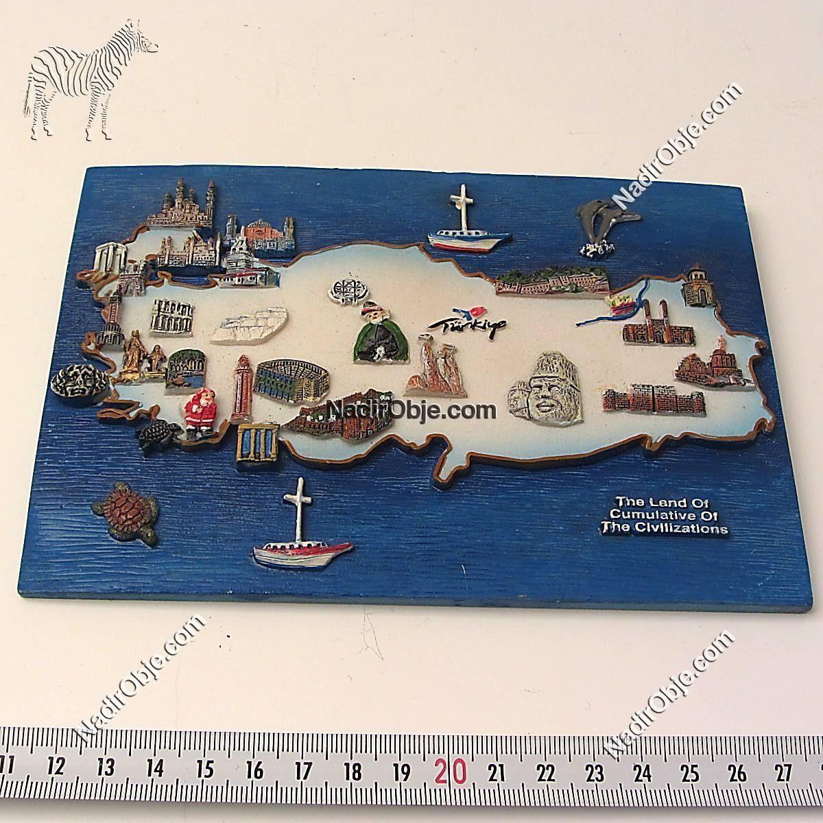 Türkiye Haritası Plastik-Polyester Objeler Harita
