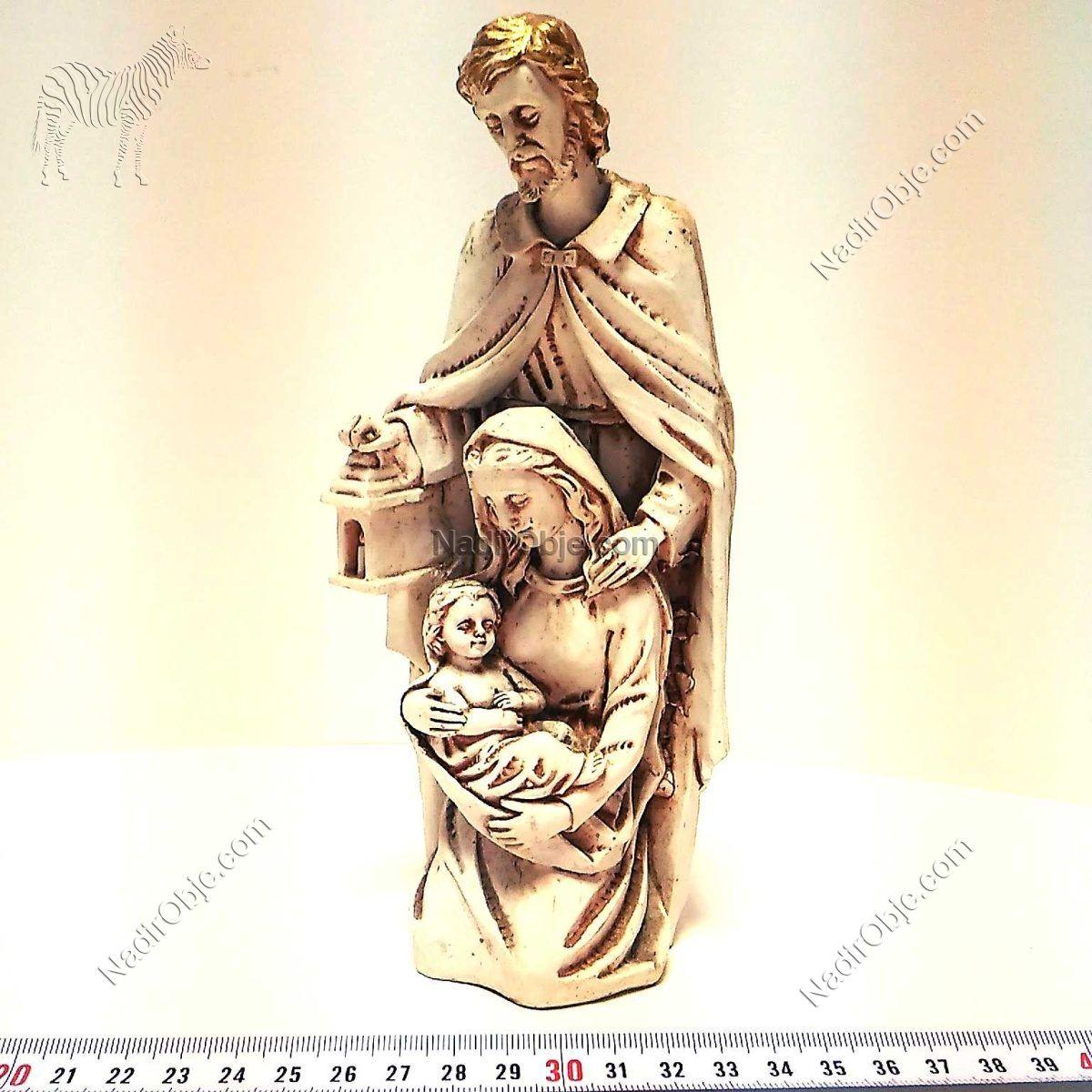 Hazreti Meryem ve Hazreti İsa Cam-Taş Objeler Figür
