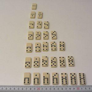 Domino Takımı Plastik-Polyester Objeler Domino