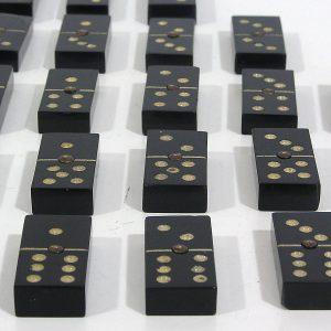 Bakalit Domino Taşları Plastik-Polyester Objeler Bakalit
