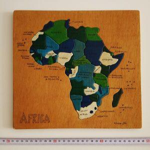 Ahşap Puzzle Ahşap Objeler Afrika