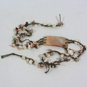 Deniz Kabuğu Kolye Cam-Taş Objeler Deniz Kabuğu