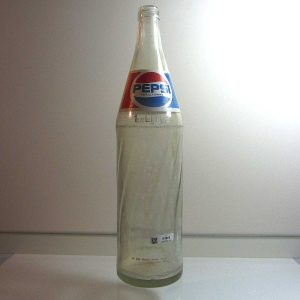 Pepsi Cola 1 Litre Cam Şişe Cam-Taş Objeler Cam