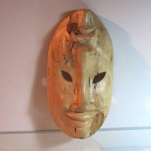 Gülen Ağlayan Maske Ahşap Objeler Afrika
