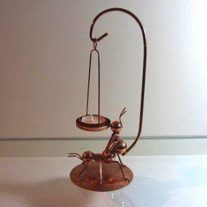 Çiftleşen Karıncalar Mumluk Metal Objeler Bakır