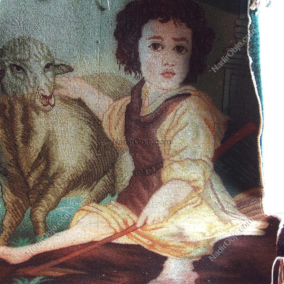 Duvar Halısı (60×45) Deri-Kumaş-Tekstil Çocuk