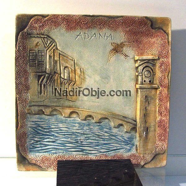 Adana Temalı Seramik Tabak Seramik-Porselen Objeler Adana