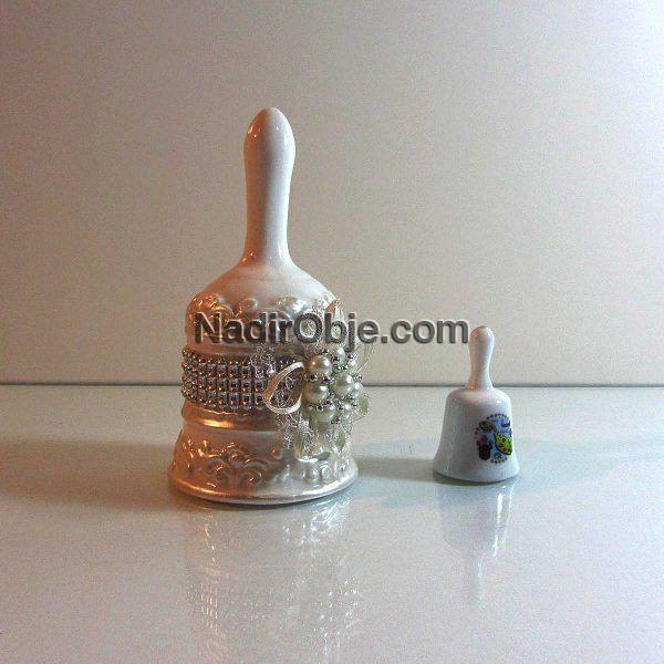 2 Adet Porselen Çan Seramik-Porselen Objeler Çan