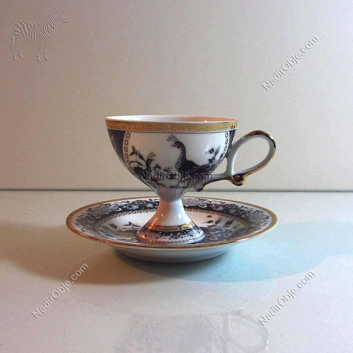 Porselen Kahve Fincanı Seramik-Porselen Objeler Fincan