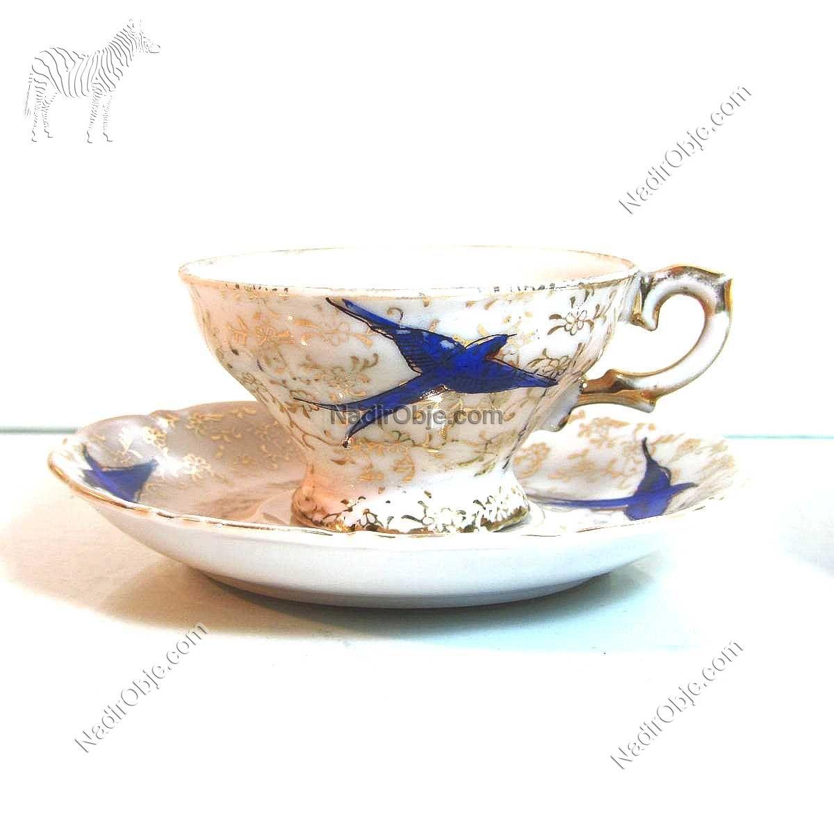 2 Adet Kahve Fincanı Seramik-Porselen Objeler Fincan