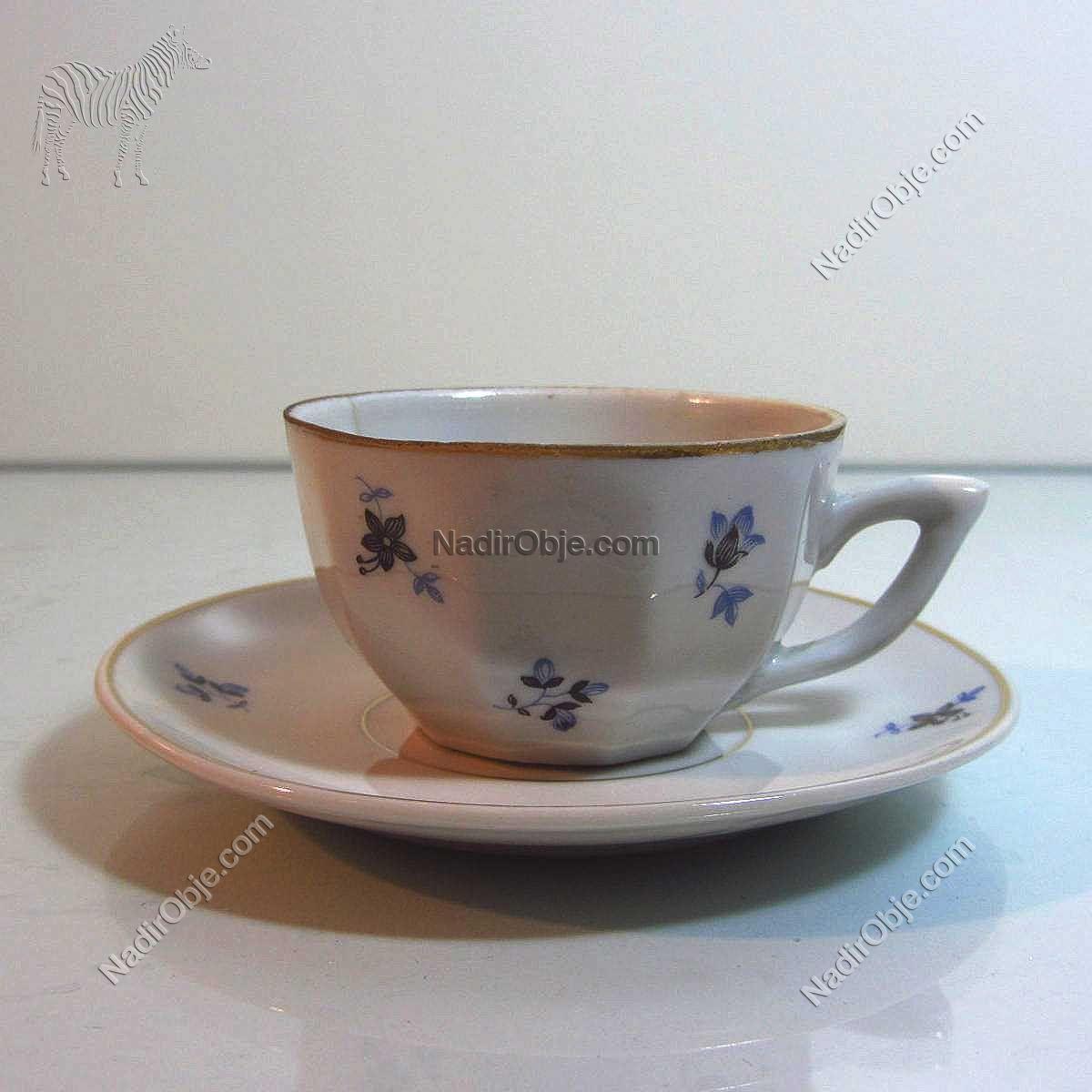 1960'lar Kahve Fincanı Seramik-Porselen Objeler Fincan