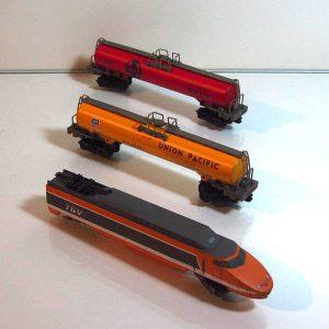3'lü Tren Seti Mekanik-Elektrikli Objeler Lokomotif