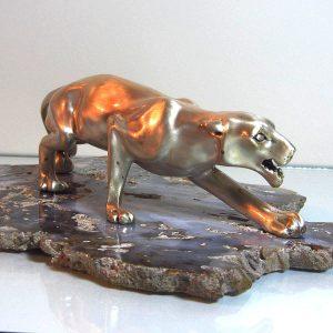 Masaüstü Aslan Figürü Cam-Taş Objeler Aslan