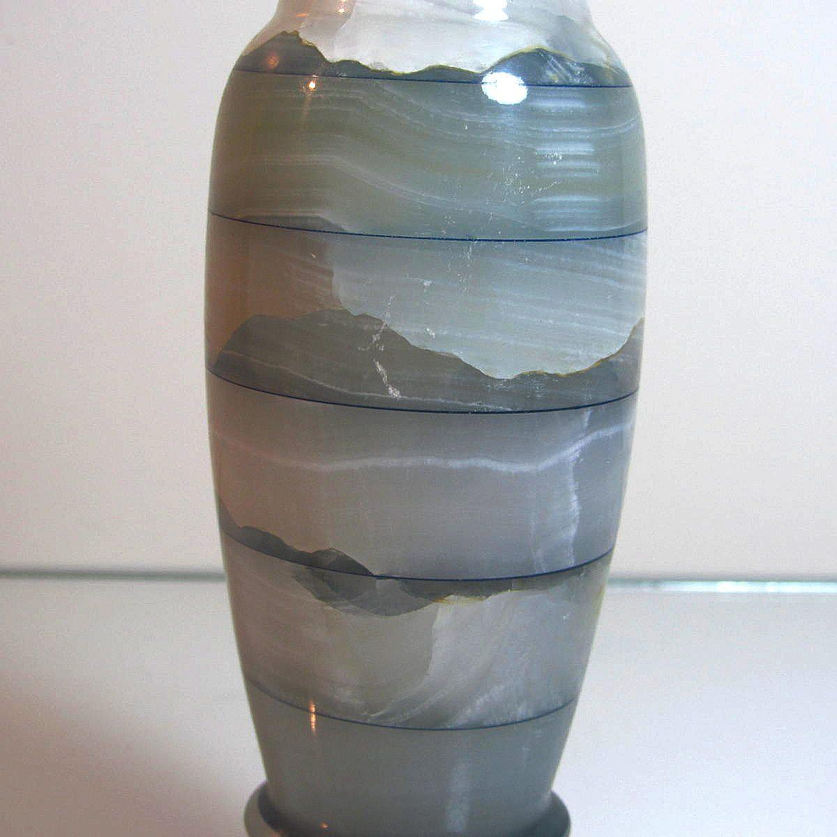 Mermer Vazo Cam-Taş Objeler Mermer