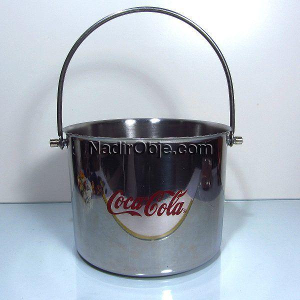 Coca Cola Buz Kovası Metal Objeler Buzluk