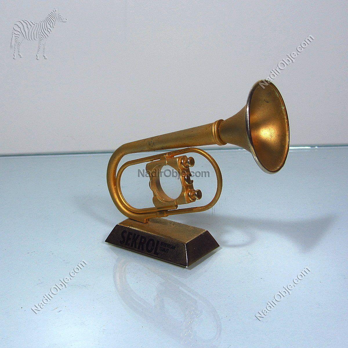 Trompet Şeklinde Masa Dekoru Metal Objeler Dekor