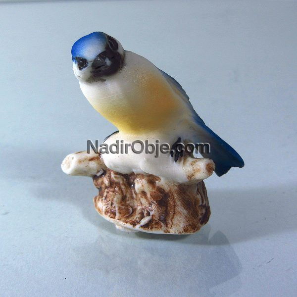 Mini Kuş Figürü Cam-Taş Objeler Figür