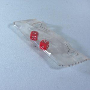 Bir Çift Mini Oyun Zarı Plastik-Polyester Objeler Oyun