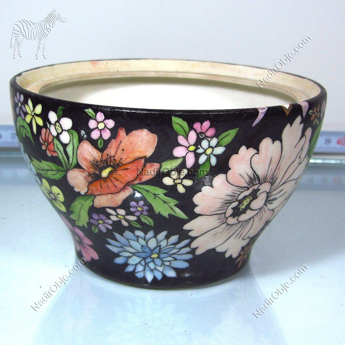 El Boyama Porselen Kase Seramik-Porselen Objeler Elişi