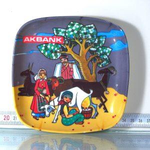 Akbank Melamin Tabak Plastik-Polyester Objeler Akbank