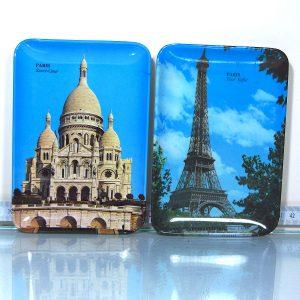 2 Adet Paris Melamin Tabak Plastik-Polyester Objeler Melamin