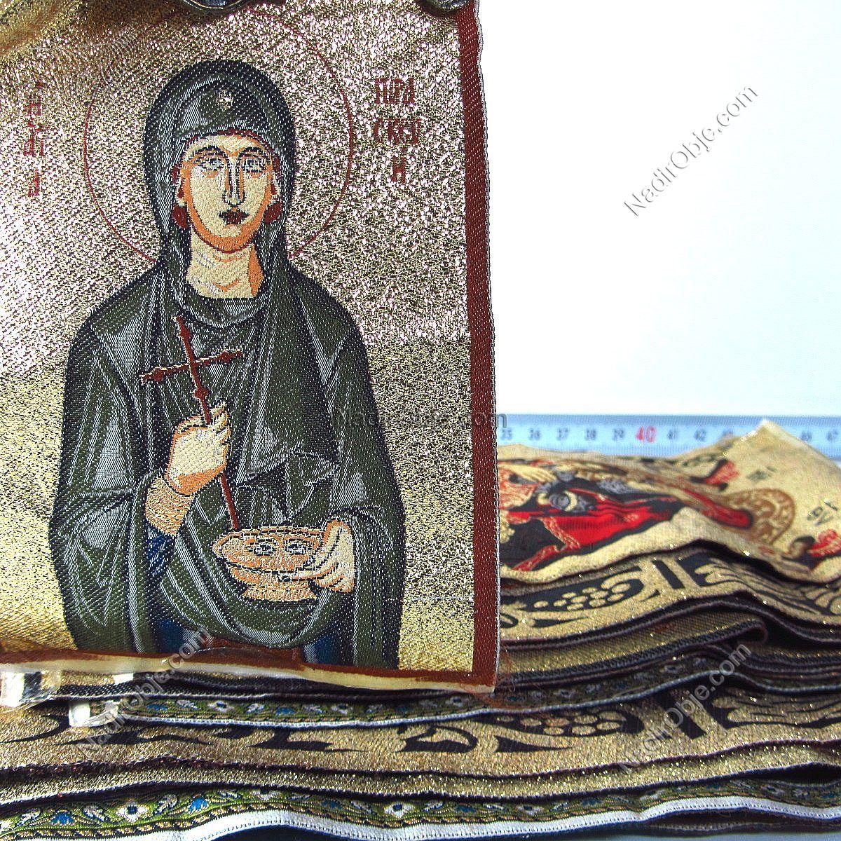 14 Adet Hıristiyan Temalı Kumaş Deri-Kumaş-Tekstil Din