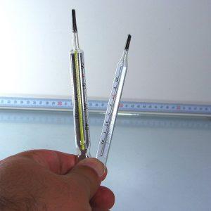 2 Adet Cıvalı Termometre Cam-Taş Objeler Cıva