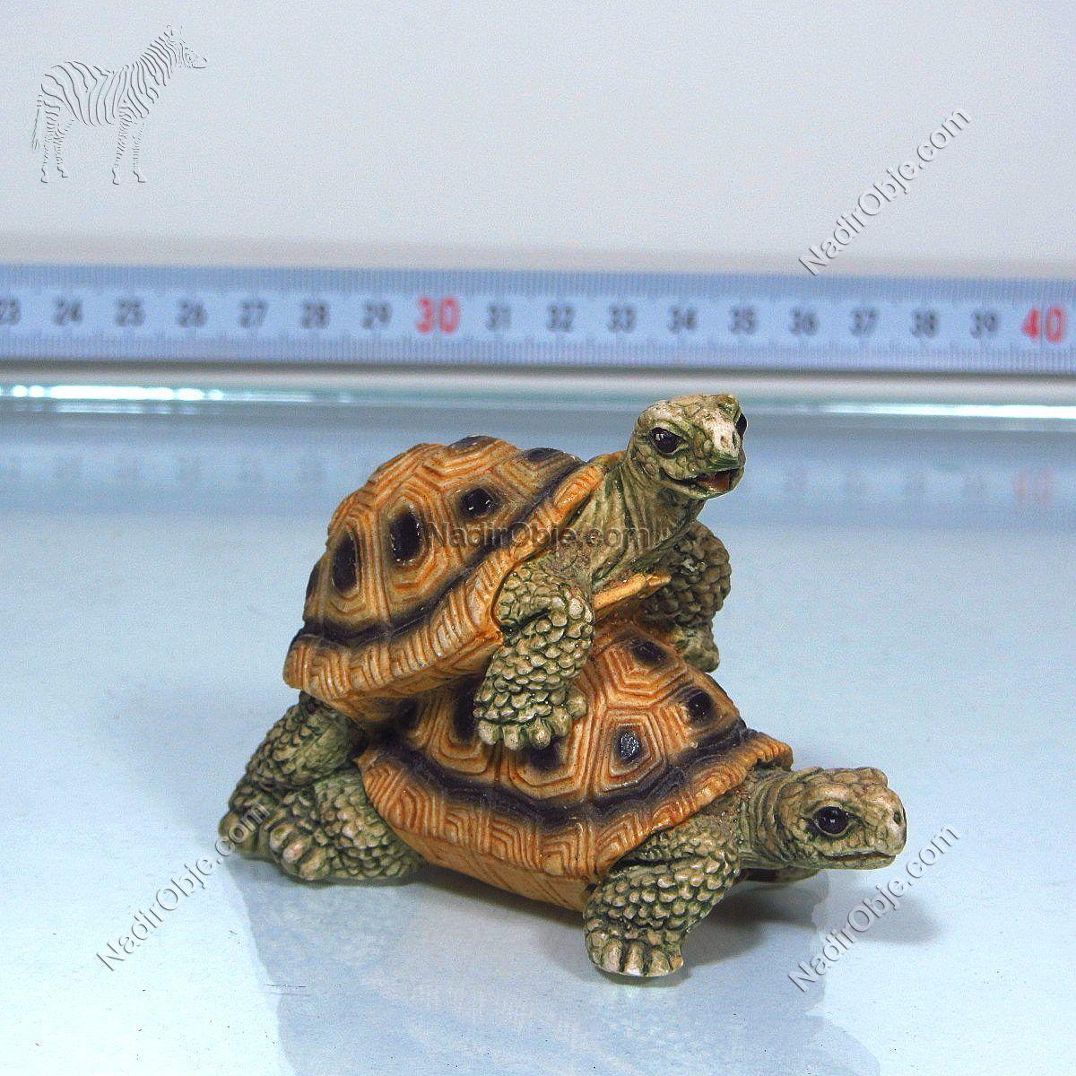 Çiftleşen Kaplumbağalar Plastik-Polyester Objeler Çiftleşme