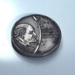 Leninli Hatıra Madalya Diğer Objeler Askeri