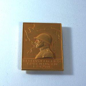 İsveç 1971 Yedek Subaylar Derneği Hatıra Madalya Diğer Objeler Askeri