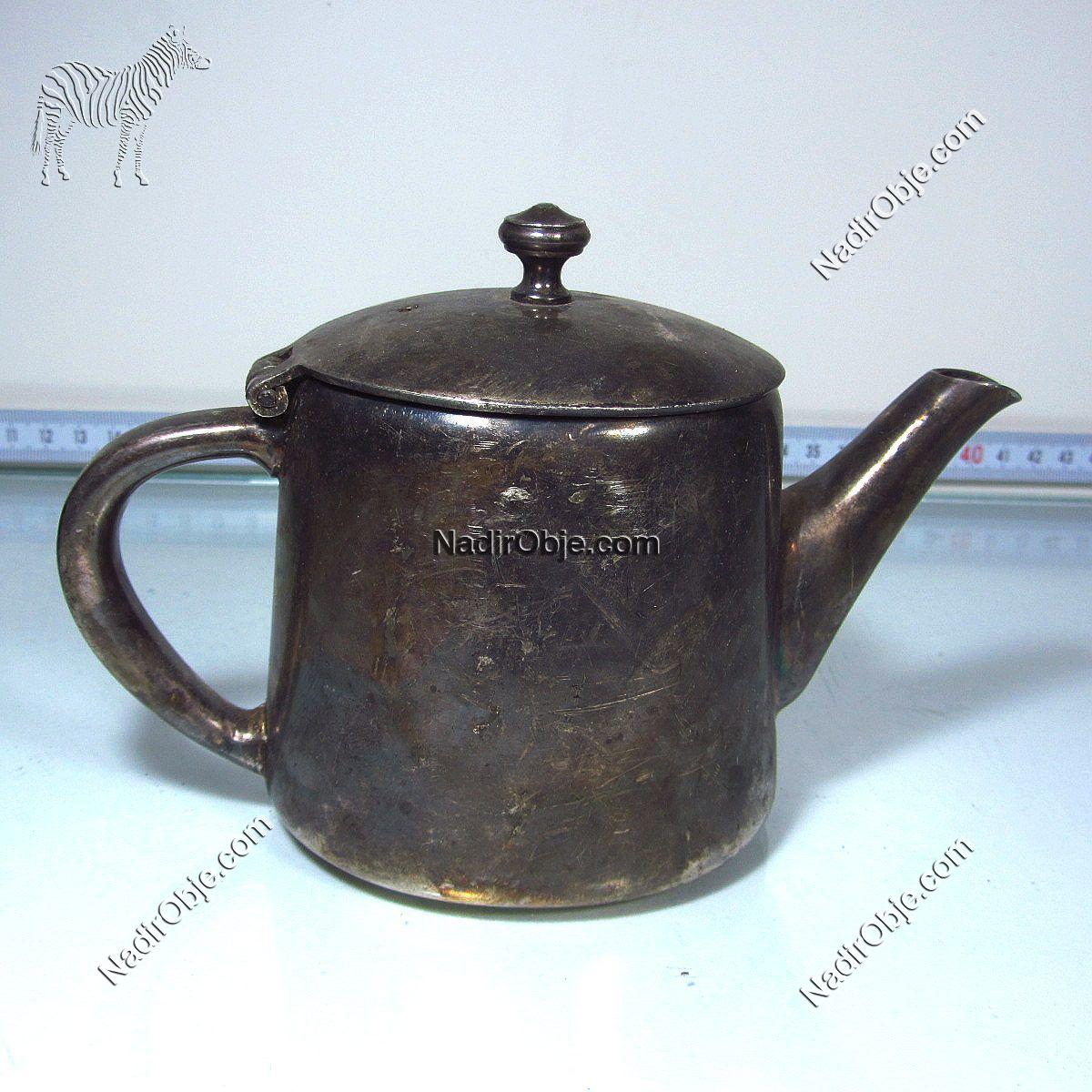 Gümüş Kaplama Çaydanlık Metal Objeler Çay