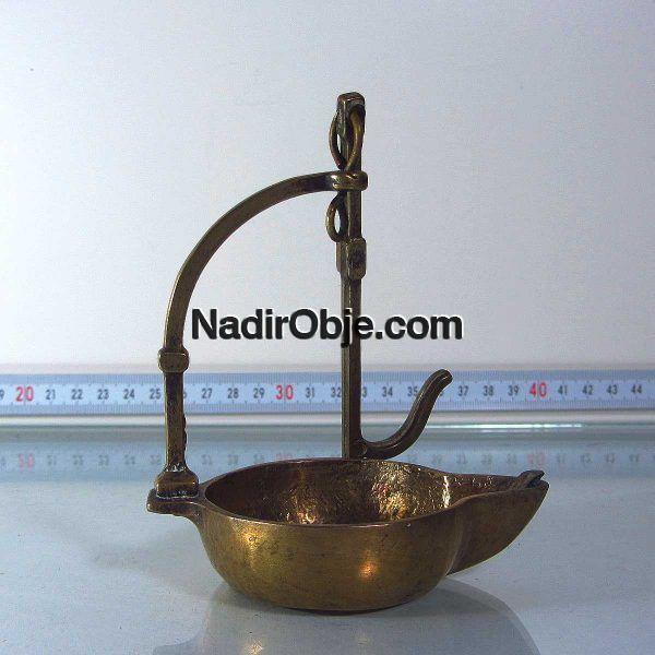 Pirinç Yağ Lambası Metal Objeler Pirinç
