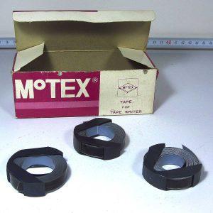 3 Adet MoTEX Yazı Şeridi Plastik-Polyester Objeler Motex
