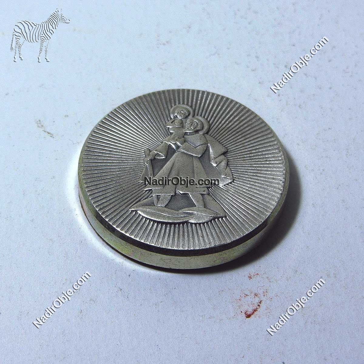 Mıknatıslı Metal Madalya Diğer Objeler Nümizmatik