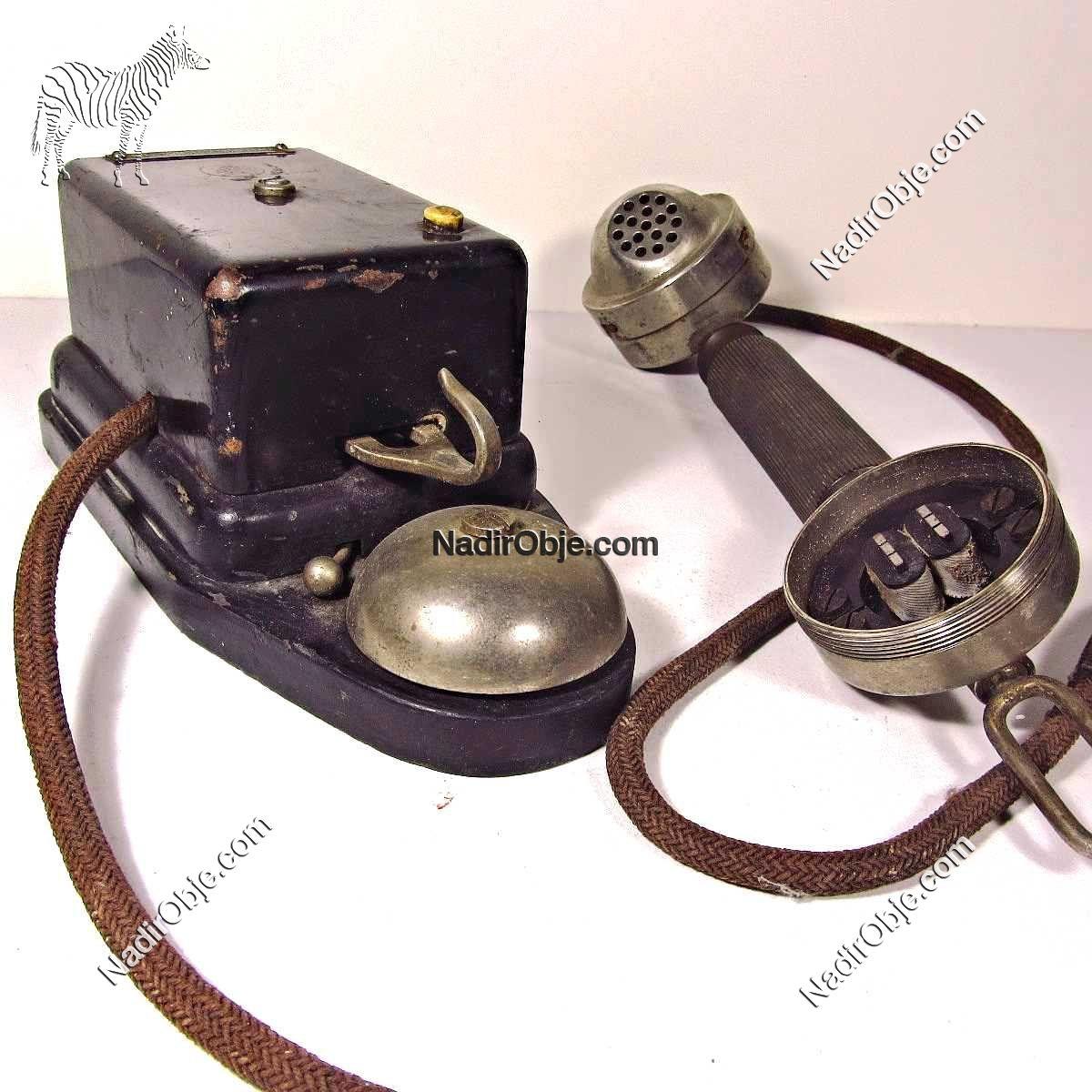 Çok Eski Telefon Makinası Mekanik-Elektrikli Objeler Ahize