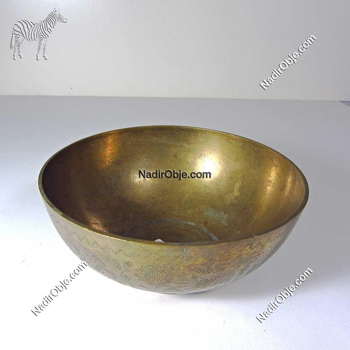 Pirinç Tas Metal Objeler Pirinç