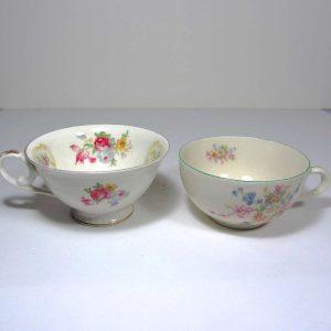 2 Porselen Fincan Seramik-Porselen Objeler Alman