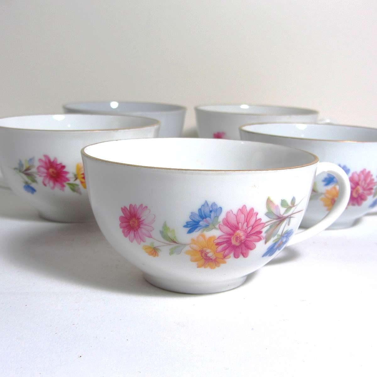 5 Porselen Fincan Seramik-Porselen Objeler Fincan