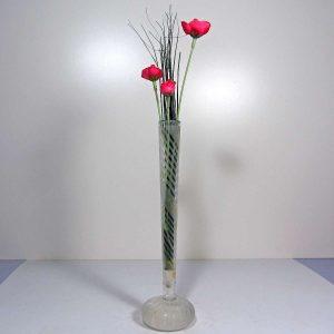 İkebana Çiçek Cam-Taş Objeler Çiçek