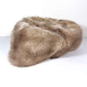 Rus Kalpak (Bej) Deri-Kumaş-Tekstil Başlık